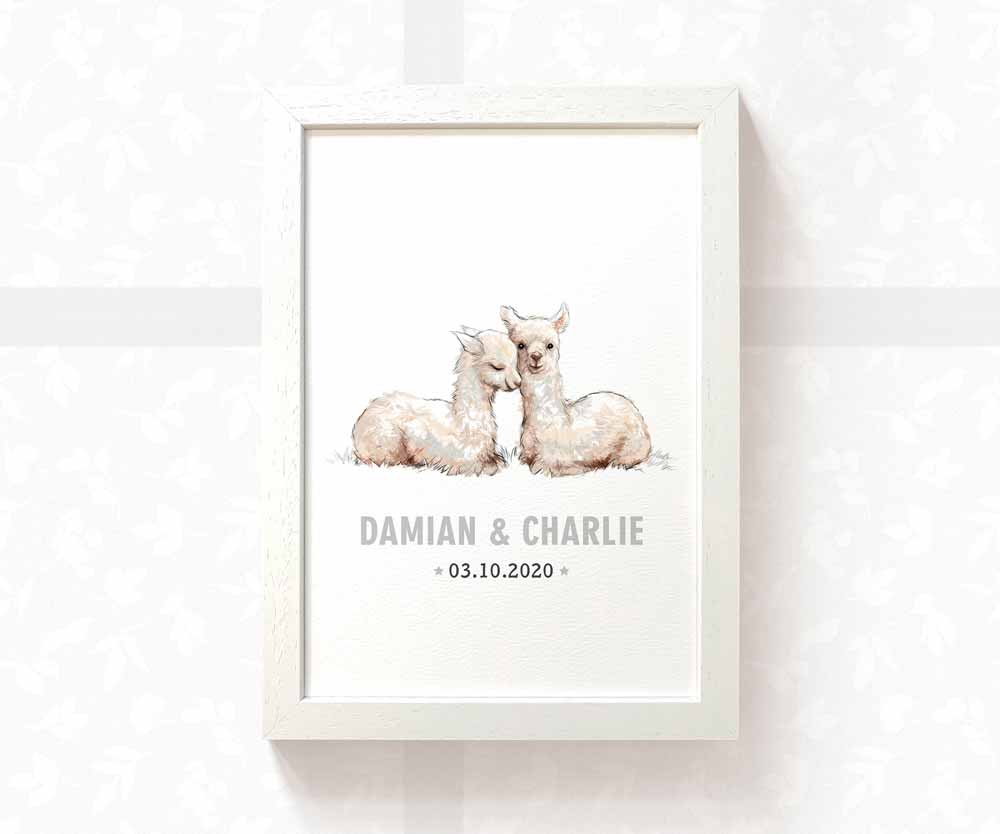 llama twin baby names and date of birth print