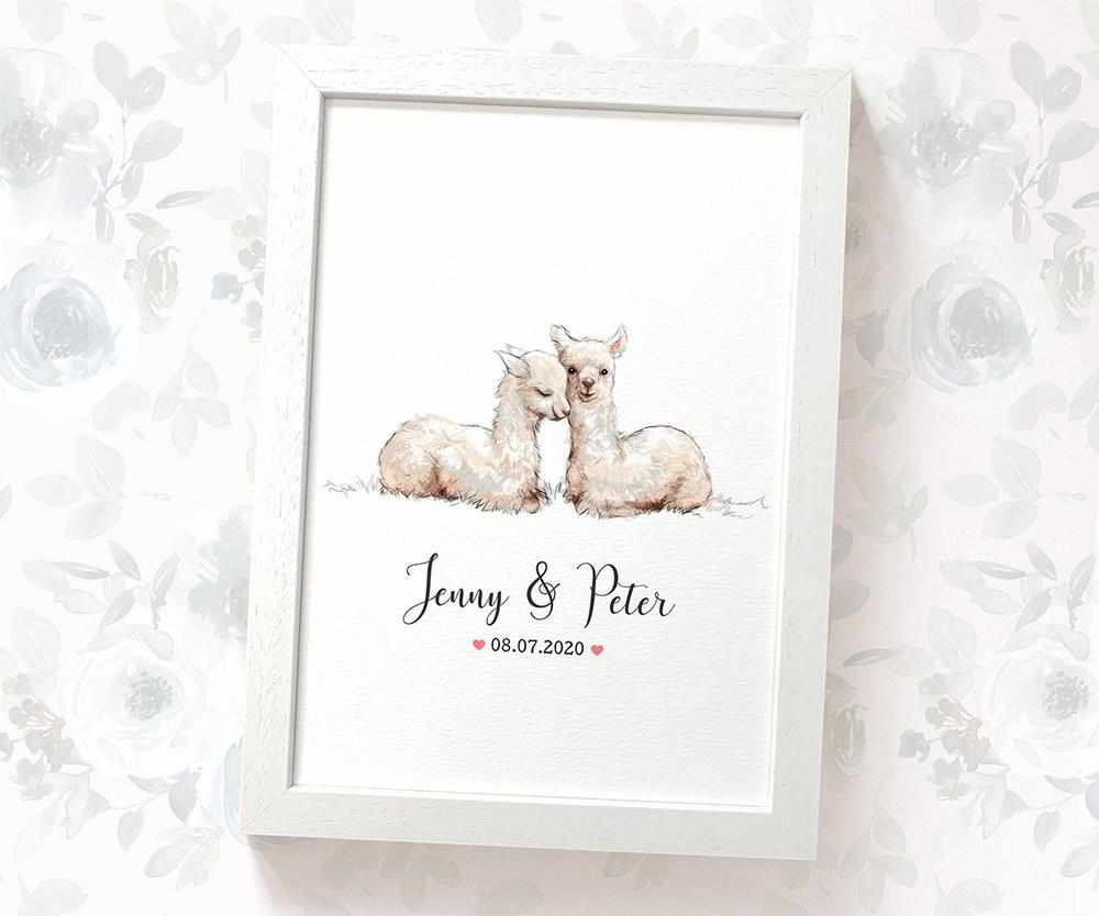 Llama wedding name sign
