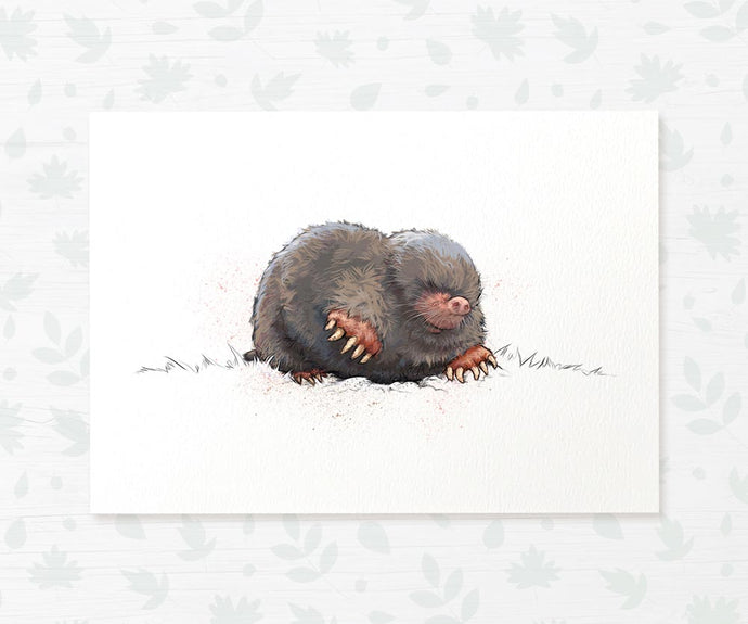 Common Mole nursery art print