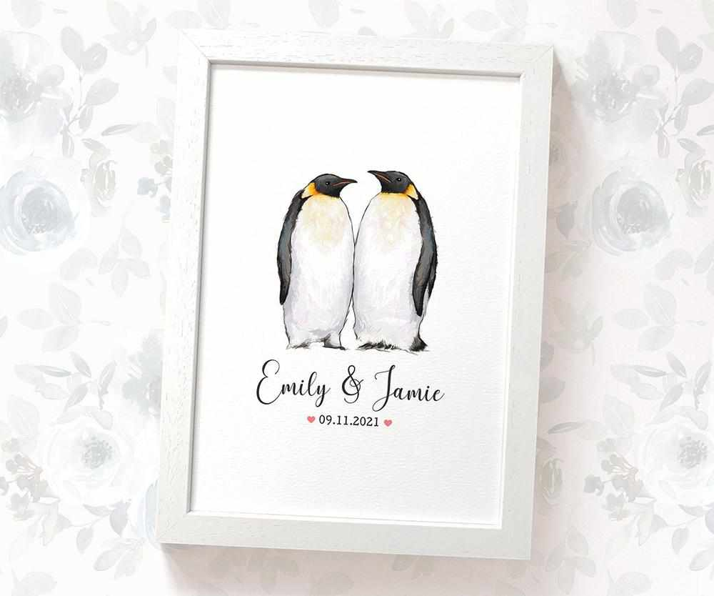 Penguin wedding name sign