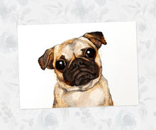 Cute pug animal art print