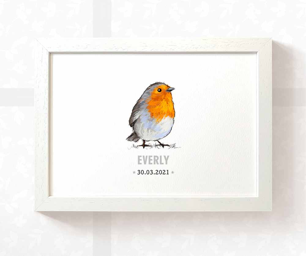 Robin baby name and date sign