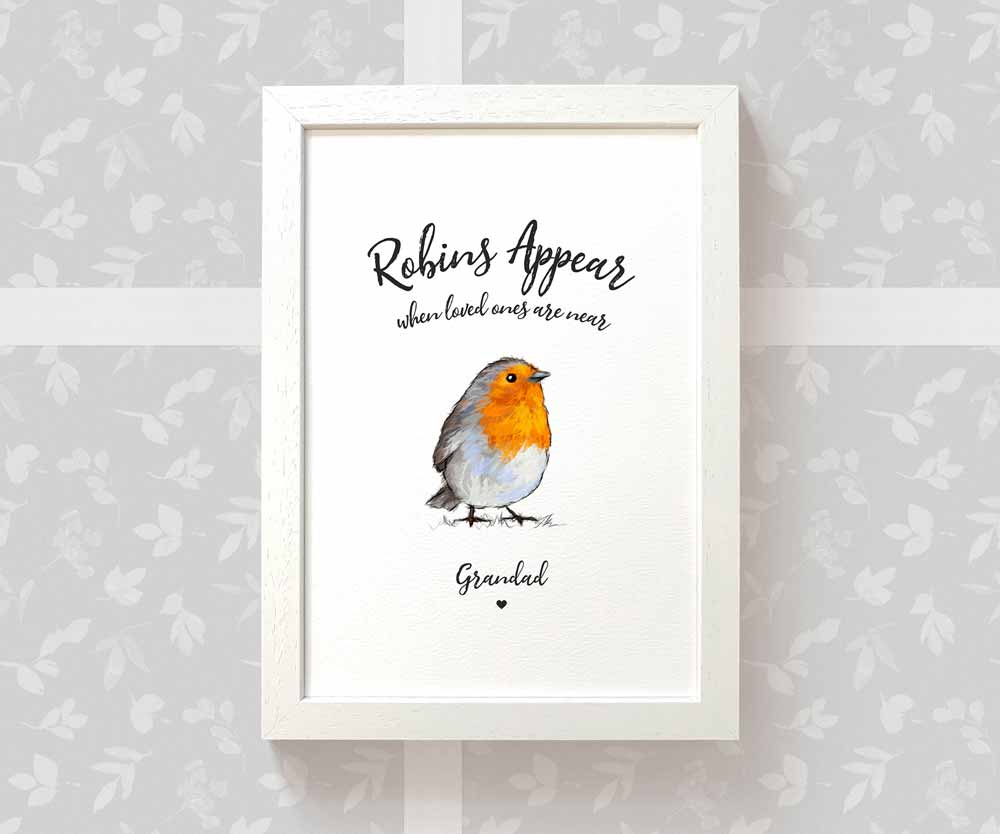 Robin Art Print with names