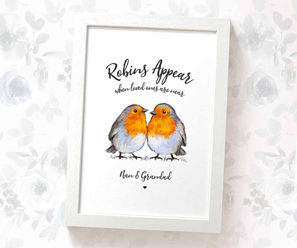 Robin Couple Art Print