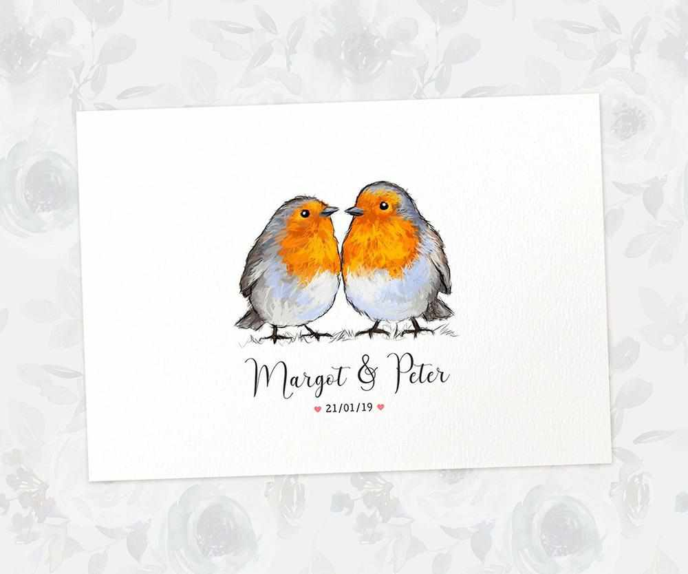 Robin bird wedding name sign