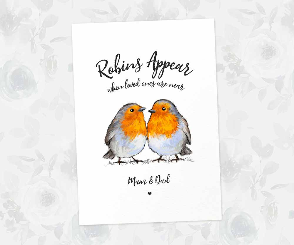Robins Appear name print