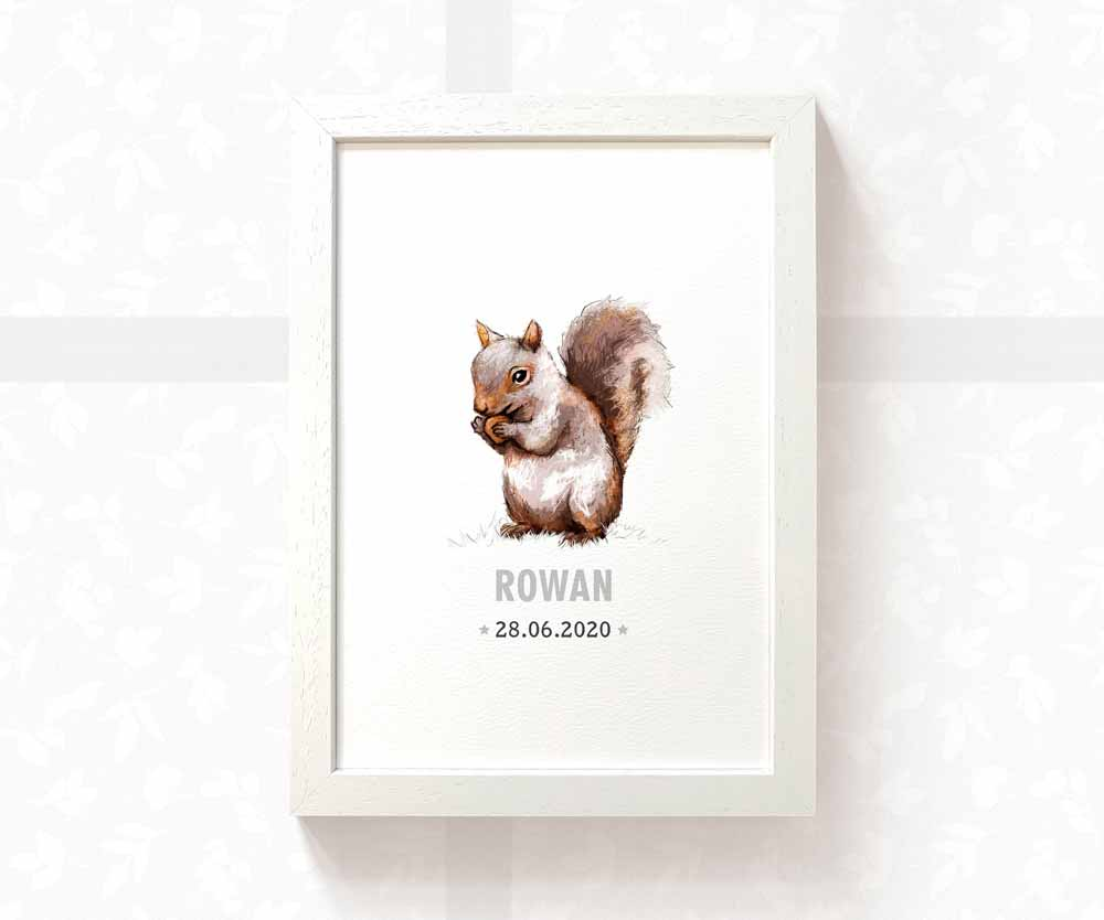 baby squirrel name print