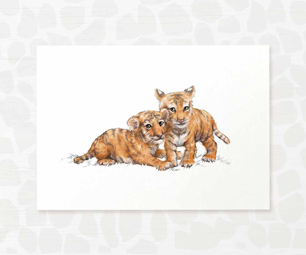 Tigers twin baby room print
