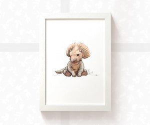 Triceratops dinosaur children's wall art