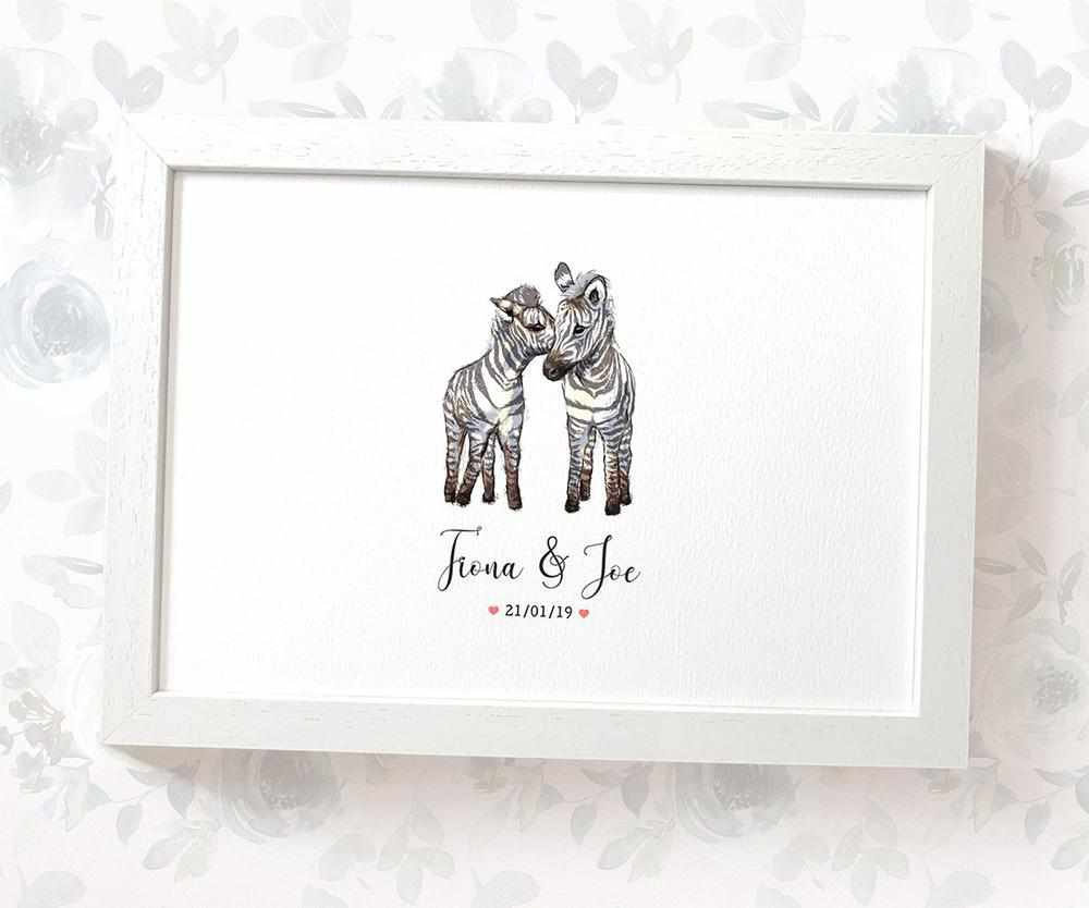 Zebra wedding name sign