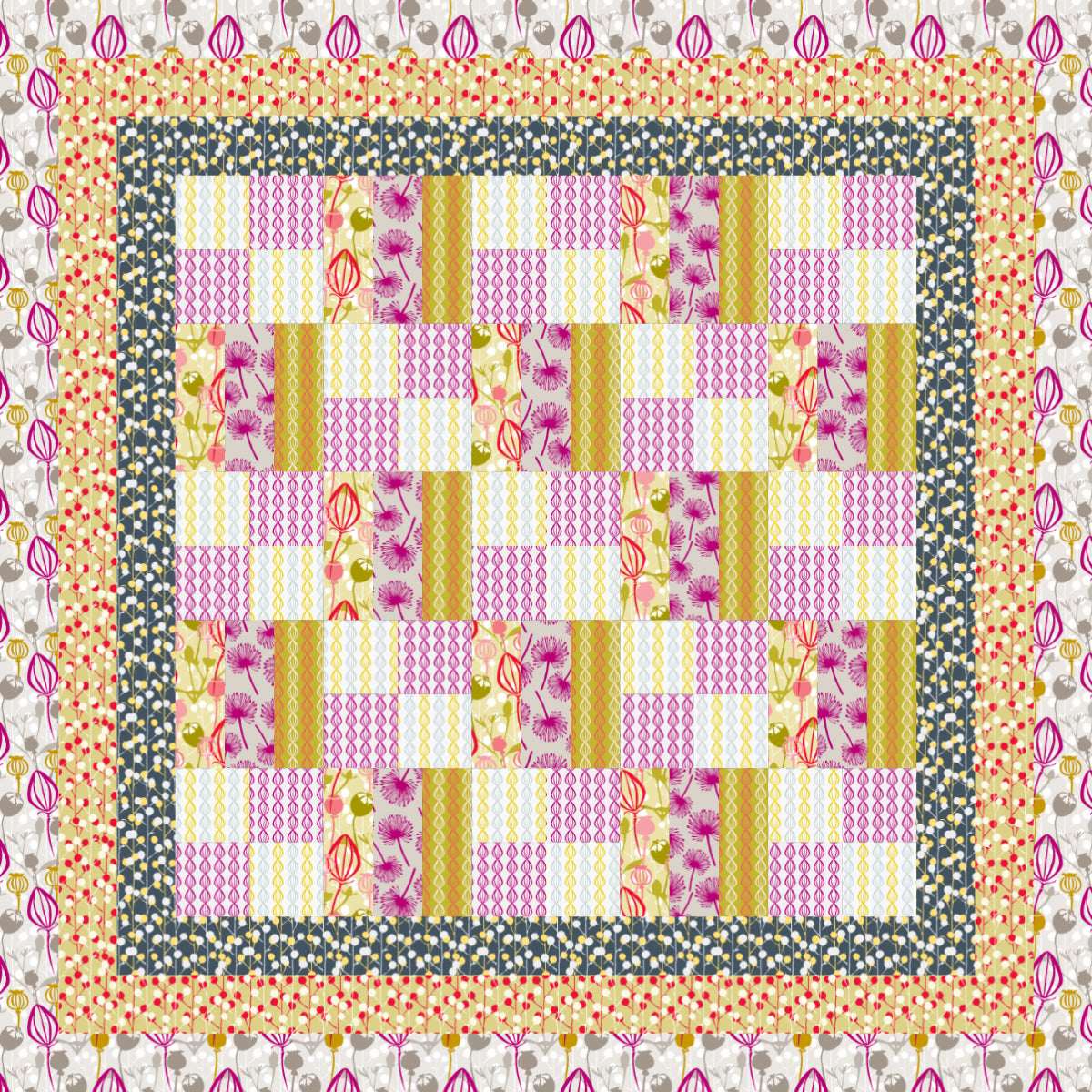 CBTOP-2006 Custom Ready-To-Quilt Panel