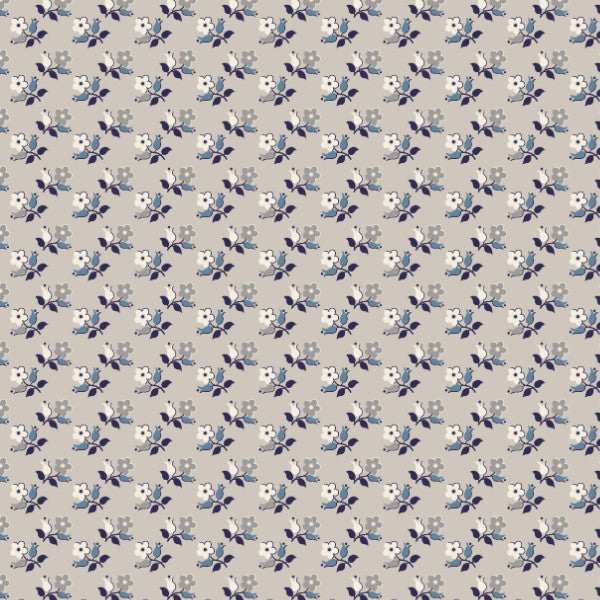 Precious in Gray - Cotton Fabric By The Yard