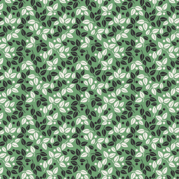 Gigi in Green - Cotton Fabric By The Yard