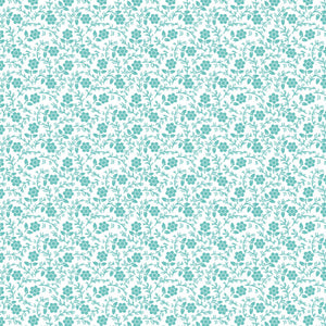 Julia in Aqua - Cotton Fabric By The Yard