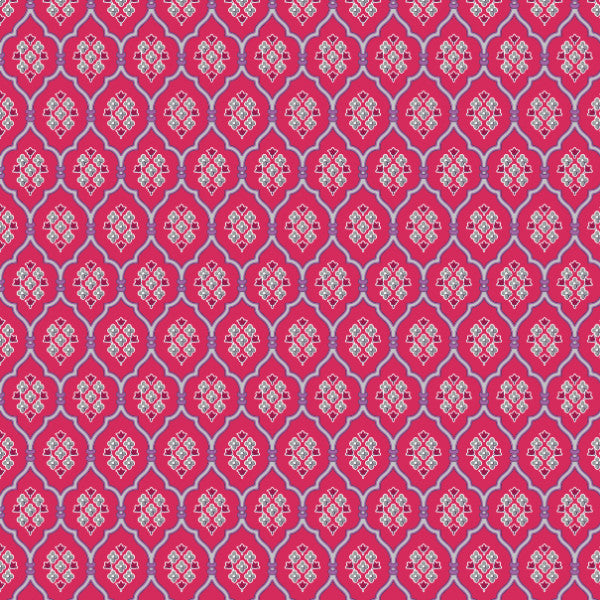 Claxton in Fuchsia - Cotton Fabric By The Yard