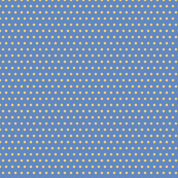 Dottys in Blue - Cotton Fabric By The Yard