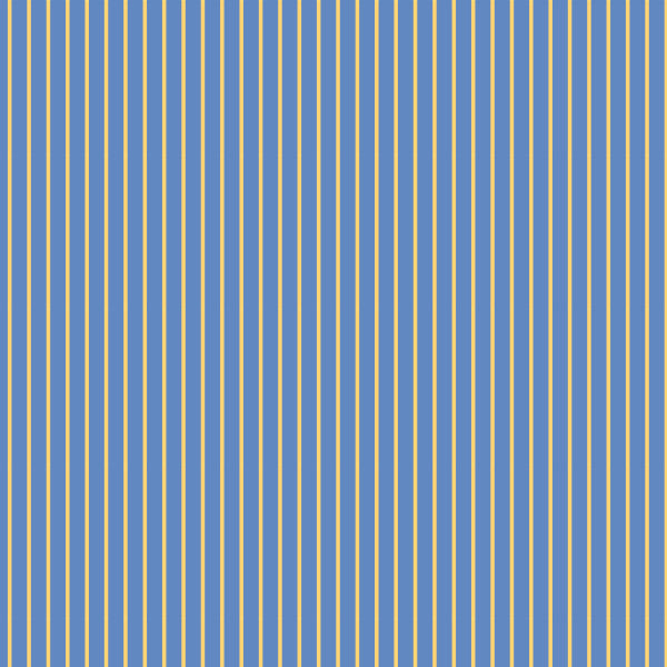 Pinstripe in Blue - Cotton Fabric By The Yard