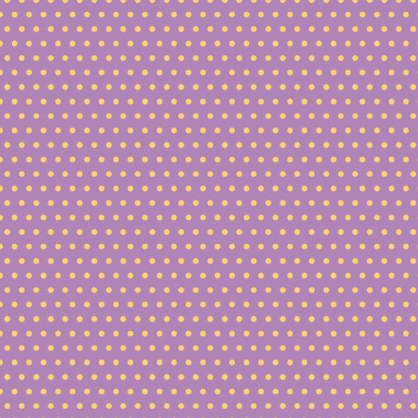Dottys in Violet - Cotton Fabric By The Yard