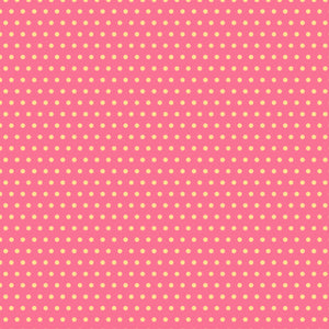 Dottys in Pink - Cotton Fabric By The Yard