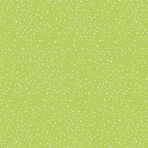 Starry Night in Lime - Cotton Fabric By The Yard