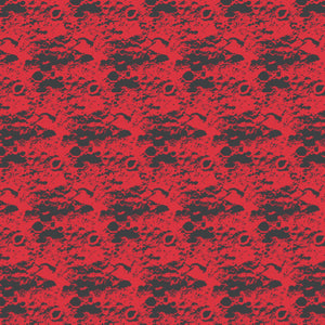 Lunar in Red - Cotton Fabric By The Yard