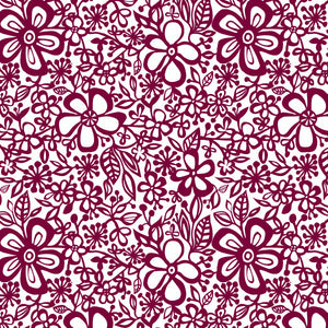 Daisy in Berry - Cotton Fabric By The Yard