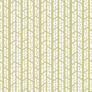 Aspens in Buff - Cotton Fabric By The Yard