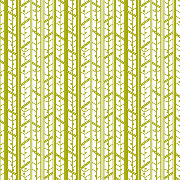 Aspens in Celery - Cotton Fabric By The Yard
