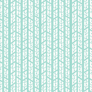 Aspens in Mint - Cotton Fabric By The Yard