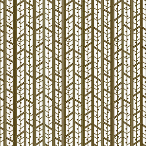 Aspens in Mocha - Cotton Fabric By The Yard