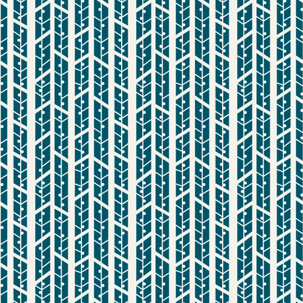 Aspens in Teal - Cotton Fabric By The Yard
