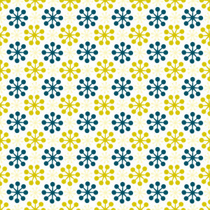 Florette in Citron - Cotton Fabric By The Yard