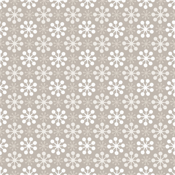 Florette in Fog - Cotton Fabric By The Yard