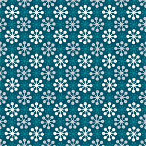 Florette in Marine - Cotton Fabric By The Yard