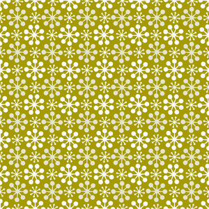 Florette in Moss - Cotton Fabric By The Yard