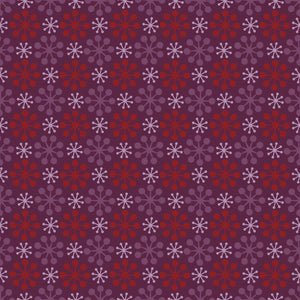 Florette in Pomegranate - Cotton Fabric By The Yard