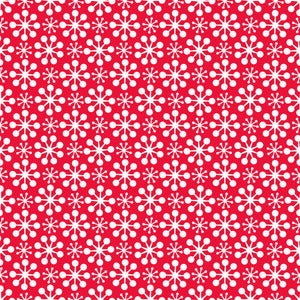 Florette in Red - Cotton Fabric By The Yard
