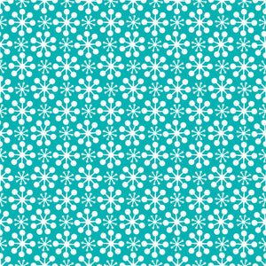Florette in Sky - Cotton Fabric By The Yard