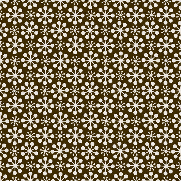 Florette in Wood - Cotton Fabric By The Yard