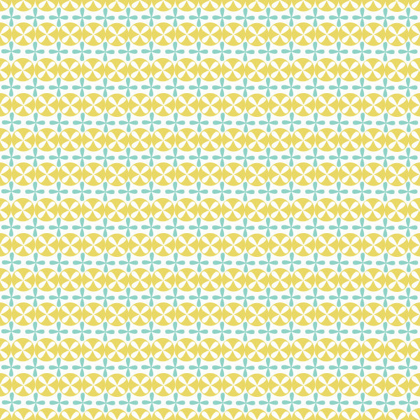 Seedlings in Lemon Mint - Cotton Fabric By The Yard