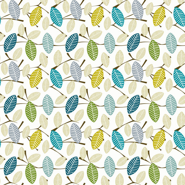 Spring Leaf in Pastel - Cotton Fabric By The Yard