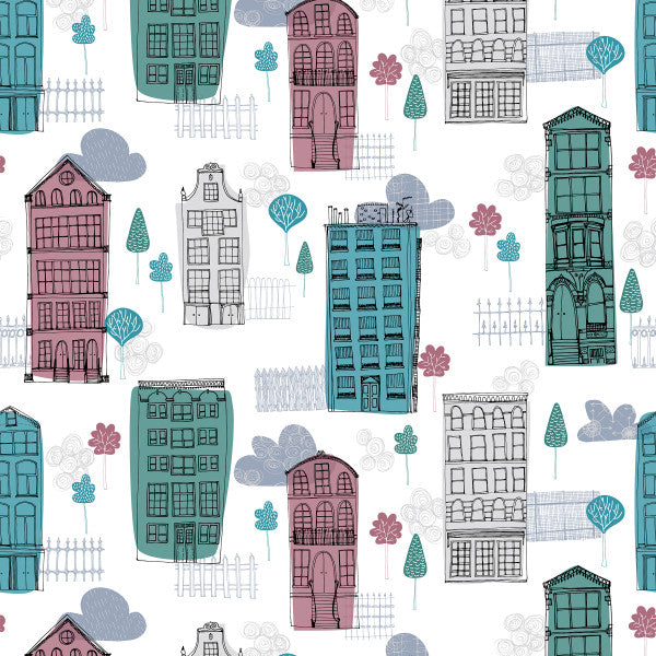 City Streets - Cotton Fabric By The Yard