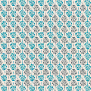 Flower Stripe - Cotton Fabric By The Yard