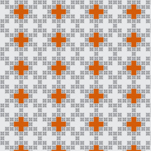 Crosses in Lt Gray - Cotton Fabric By The Yard