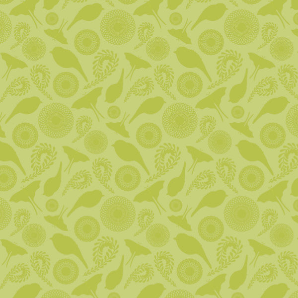 Ditsy in Green - Cotton Fabric By The Yard