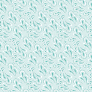 Paisley in Teal - Cotton Fabric By The Yard