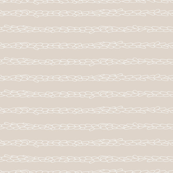 Lavender Stripe in Taupe - Cotton Fabric By The Yard
