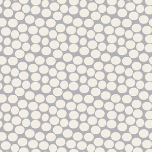 Geometrics Dots in Gray - Cotton Fabric By The Yard