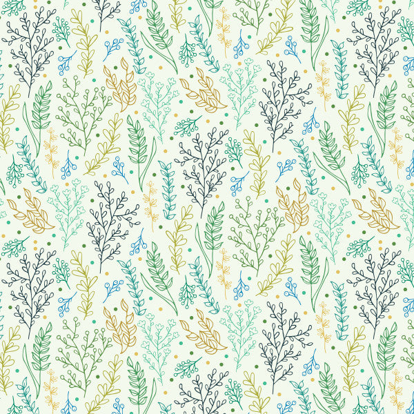 Foliage in Multi - Cotton Fabric By The Yard