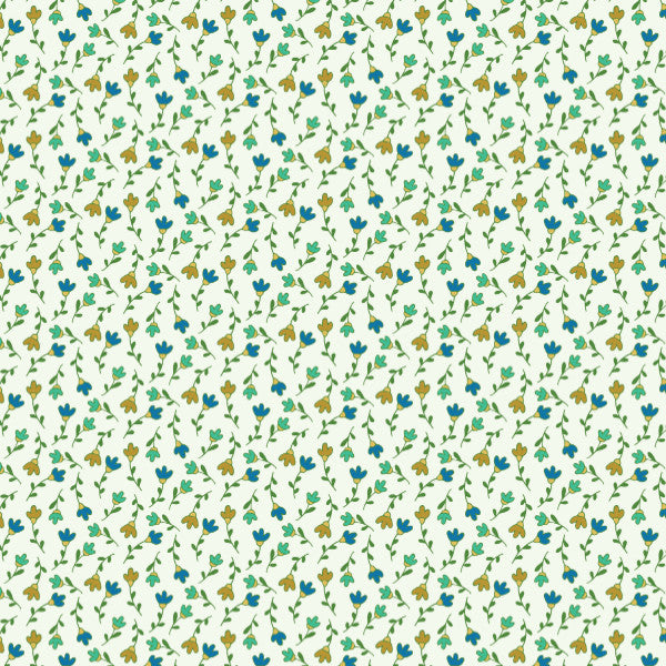 Herbe Jardin Ditsy Floral in Multi - Cotton Fabric By The Yard